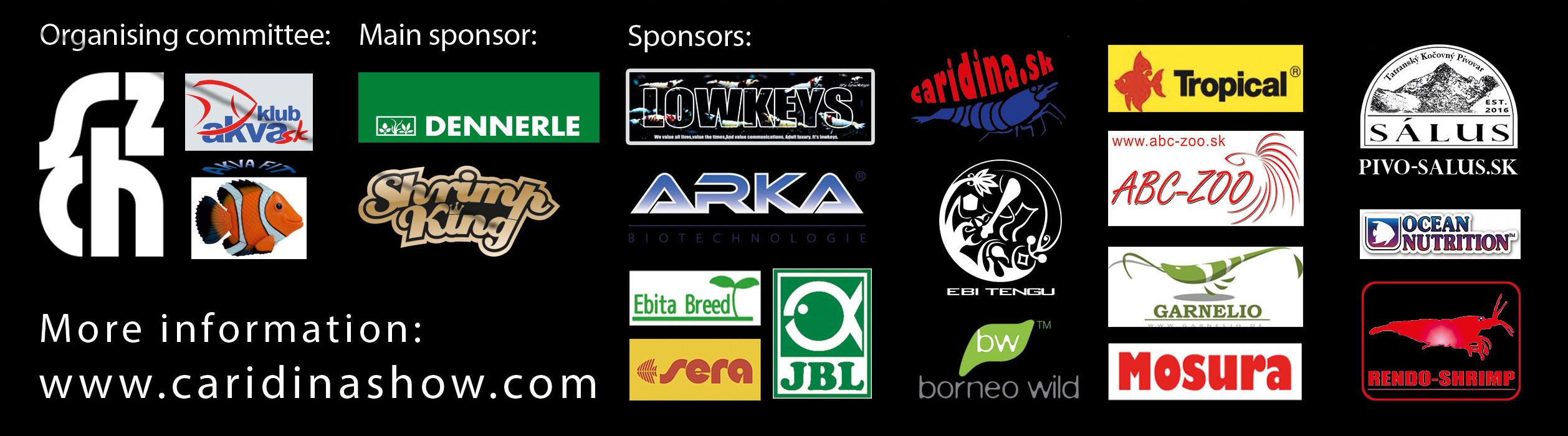 Slovak Caridina Show 2016-sponzors